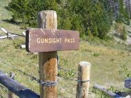 Signage for Gunsight Pass