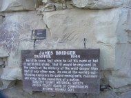 James Bridger's name inscribed at Names Hill