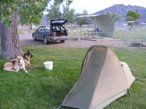 Night coming on at my campsite at the Lucerne Valley Campground in the Flaming Gorge National Recreation Area