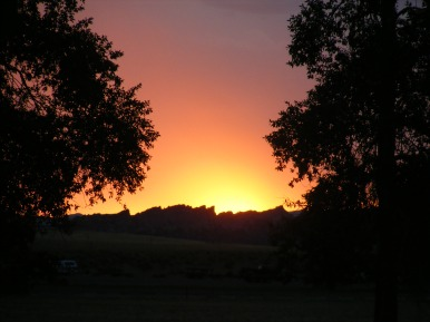 Eastern glow, dawn at Lucerne Valley Campground in the Flaming Gorge National Recreation Area