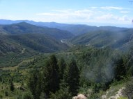 Looking south from Douglas Pass into Trail Canyon