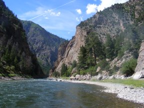 The Black Canyon of the Gunnison, just below the Cimarron River