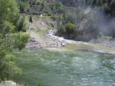The Cimarron River merging with the Gunnison
