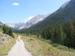The old mining road that is now Copper Creek Trail No. 983