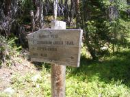 The the junction of Copper Creek Trail No. 983 and Conundrum Creek Trail No. 981