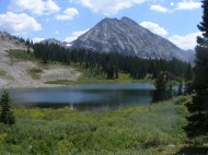 Copper Lake in the Elk Mountains of Colorado