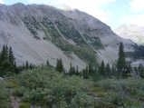 The view from the campsites south of Copper Lake