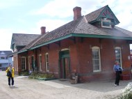 The old Colorado and Southern depot in Leadville, Colorado, now serving the Leadville, Colorado and Southern