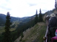 On the Leadville, Colorado and Southern, looking down at the East Fork Arkansas River and Colorado 91