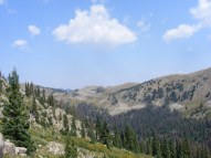 Enjoying the view as I gaze north from the top of South Quartz Creek