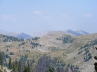 A view of the Continental Divide in the vicinity of Williams Pass, South Quartz Creek in the foreground