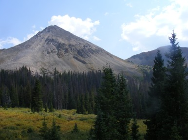 Paywell Mountain seen from Brittle Silver Basin