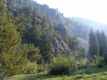 Meadow and talus in Union Canyon