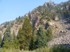 The north side of Union Canyon, which is also the southern flank of Park Cone