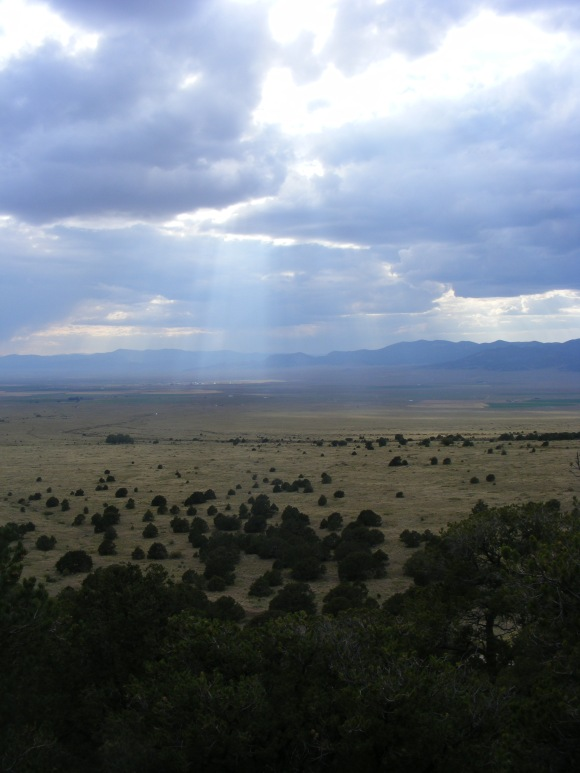Shaft of sunlight striking the floor of the San Luis valley