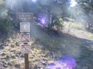 Signage for the Major Creek Trail No. 963 on the Rio Grande National Forest