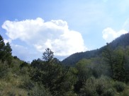 Clouds building over Major Creek