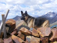 Leah on the summit of Mount Baldy