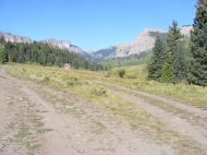 Near the end of Gunnison National Forest Road 727