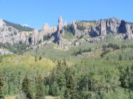 Hoodoos and such north of the trail crossing of Mill Creek