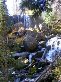 A series of cascades in Cataract Gulch