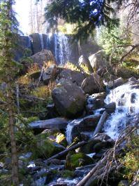 A series of cascades in Cataract Gulch