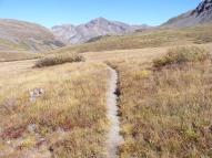 Hiking in the San Juan Mountains, Cataract Gulch; Sunshine Peak in center