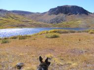 Leah at Cataract Lake, just under the Great Divide