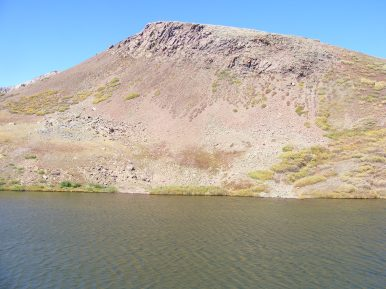 The unnamed lake at the pass where the Continental Divide and Cataract Gulch Trails meet