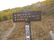 At the Swampy Pass/Pass Creek Trailhead
