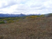 The West Elk Mountains seen from the Swampy Trail No. 439