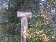 Signage at the Smith Fork Trailhead