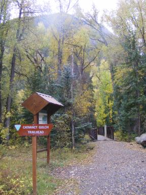 The Cataract Gulch Trailhead in the San Juan Mountains of Colorado