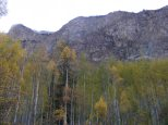 Cliffs rising above Cottonwood Creek