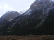 A dusting of snow above Cottonwood Creek in the vicinity of Square Gulch