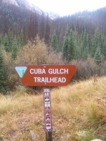 At the end of BLM Road 3309 sits the Cuba Gulch Trailhead