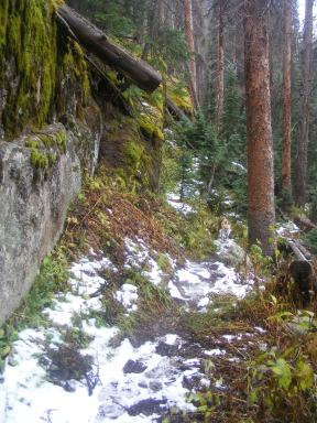 A bit of early season snow on the Cuba Gulch Trail