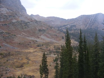 Near Blue Lake, looking north towards Democrat Basin and Daisy Pass