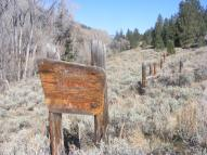 The old National Forest sign at the boundary on Beaver Creek