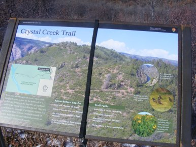 Signage for the Crystal Creek Trail