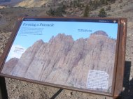 Signage put up by the National Park Service at Curecanti National Recreation Area, on the Dillon Pinnacles Trail