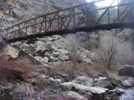 The lower bridge over Curecanti Creek
