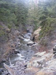 Curecanti Creek flowing down from the West Elk Mountains