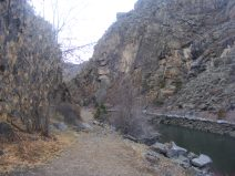 On the Pine Creek Trail, nee mainline of the Denver and Rio Grande Railroad