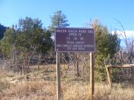 Entering the San Isabel National Forest on the Mason Gulch Road 388