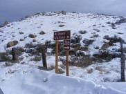 Signage at the Winter trailhead on Long Branch
