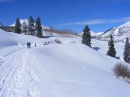 Skiing out to Gothic, Colorado