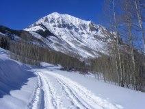 Skiing towards Gothic Mountain
