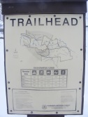 Signage at the Winter trailhead on Carbon Creek, explaining the rules
