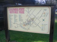Signage for Columbia State Historic Park, in California